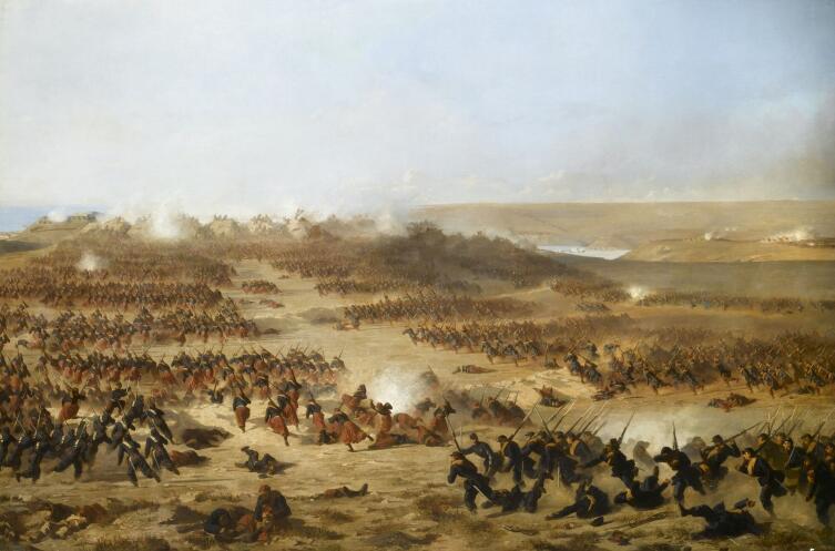 Поль Александр Проте, «Генеральная атака Севастополя союзниками 6 июня 1855 года», 1858 г.