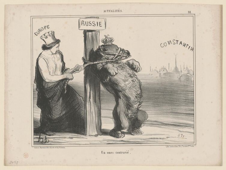 Оноре Домье, «Непослушный медведь», 1854 г.