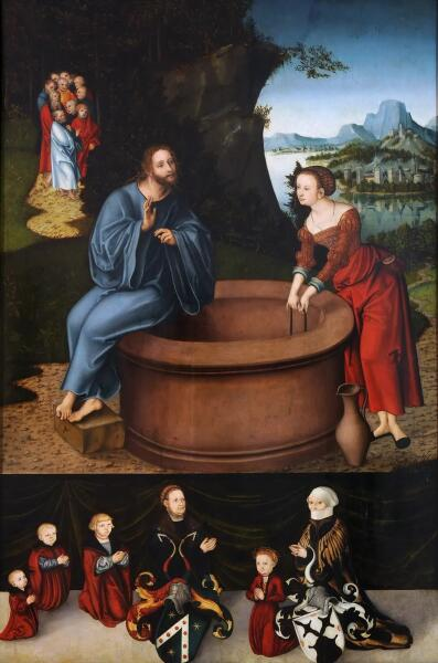 Лукас Кранах Старший, «Христос и самаритянка у колодца», 1537 г.