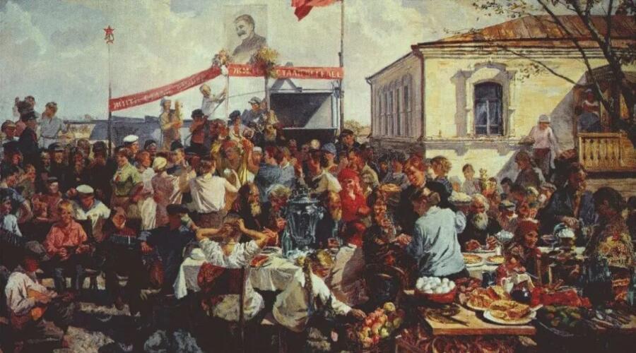 А. А. Пластов, «Колхозный праздник», 1937 г.
