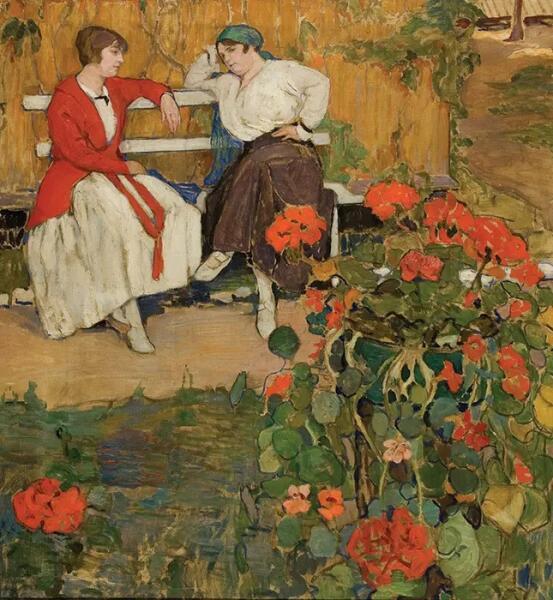 Е. А. Киселева, «Дачницы», 1915 г.