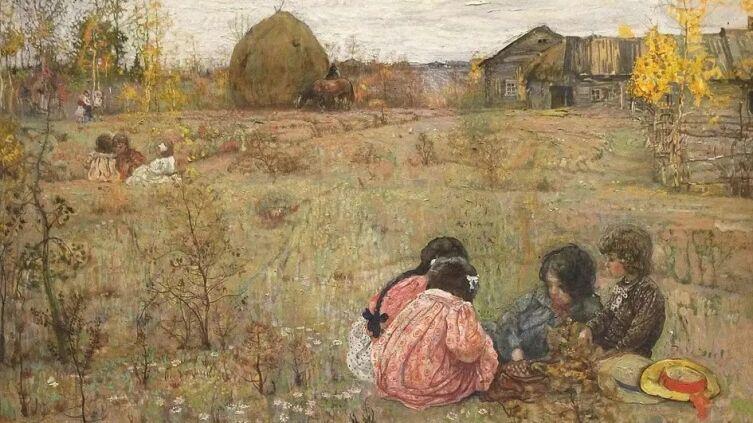 И. И. Бродский, «Поздние дачники», 1910 г.