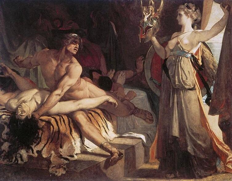 Александр Жорж Анри́ Реньо, «Фетида доставляет Ахиллу новое оружие, выкованное Гефестом», 1866 г.