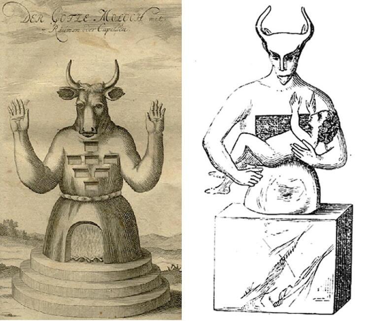 Старинные изображения Молоха