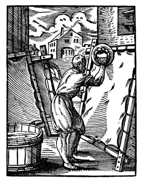 Изготовление пергамента, Германия, 1568 г.