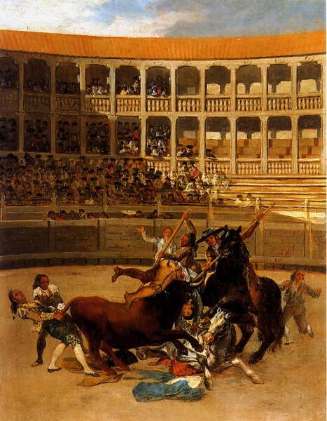Франсиско Гойя, «Смерть пикадора», ок. 1793 г.