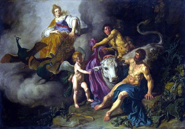 Питер Ластман, «Юнона застаёт Юпитер с Ио», 1618 г.
