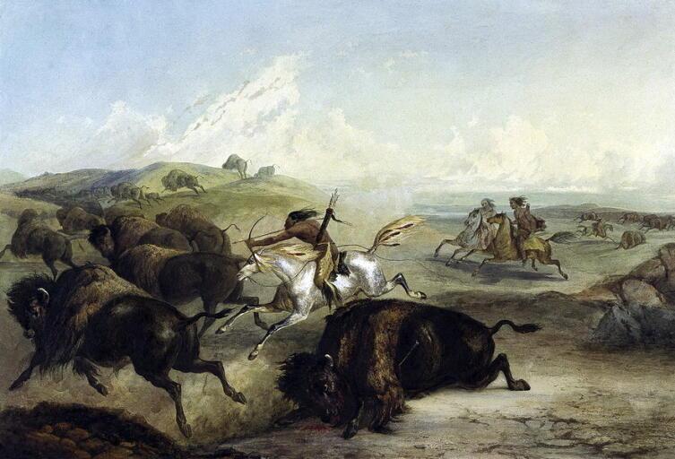 Кард Бодмер, «Охота индейцев на бизонов»