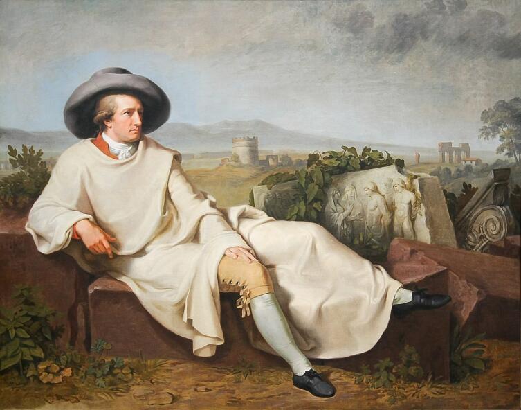 Иоганн Генрих Вильгельм Тишбейн, «Портрет Гёте в Кампанье», 1787 г.
