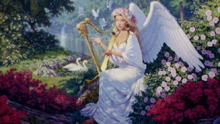 Джонатан Граф Боузер, «Ангел с арфой» (фрагмент)