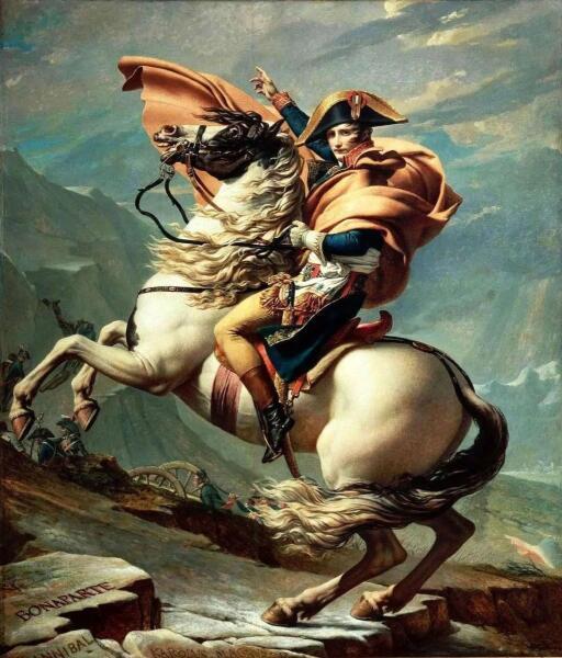 Жак-Луи Давид, «Наполеон на перевале Сен-Бернар» (третья версия), 1802г.
