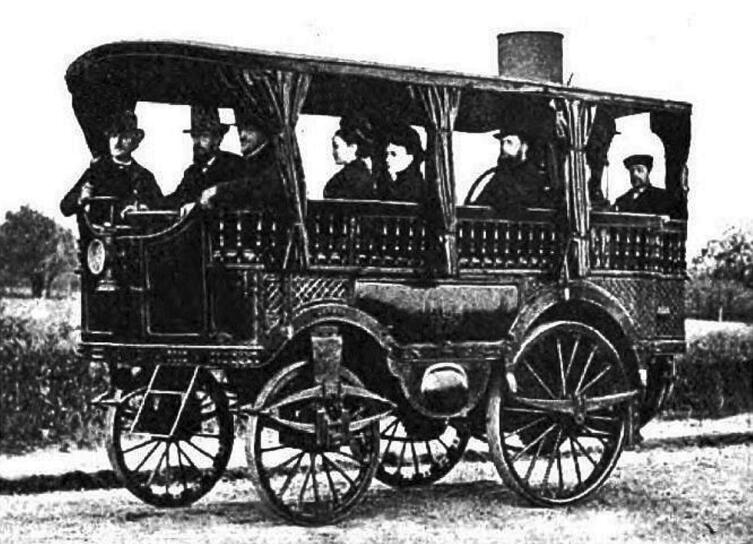 Паровой дилижанс Amédée Bollée 1875 года развивал скорость до 60 км/ч