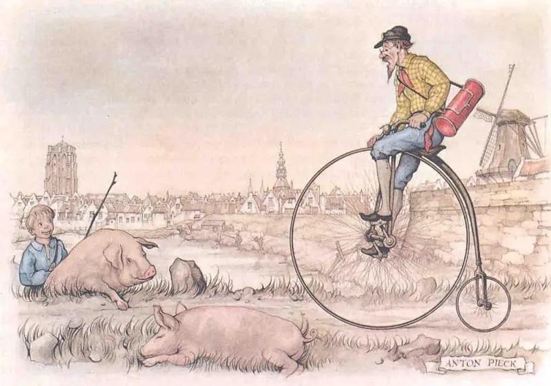 Антон Пик, «Велосипедист», 1971 г.