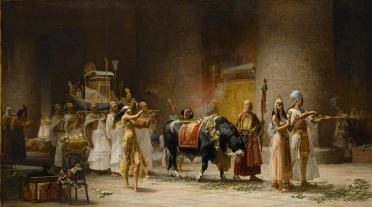 Фредерик Артур Бриджмен, «Шествие быка Аписа», 1879 г.