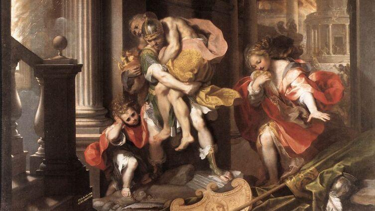 Федерико Бароччи, «Бегство Энея из Трои», 1598 г.