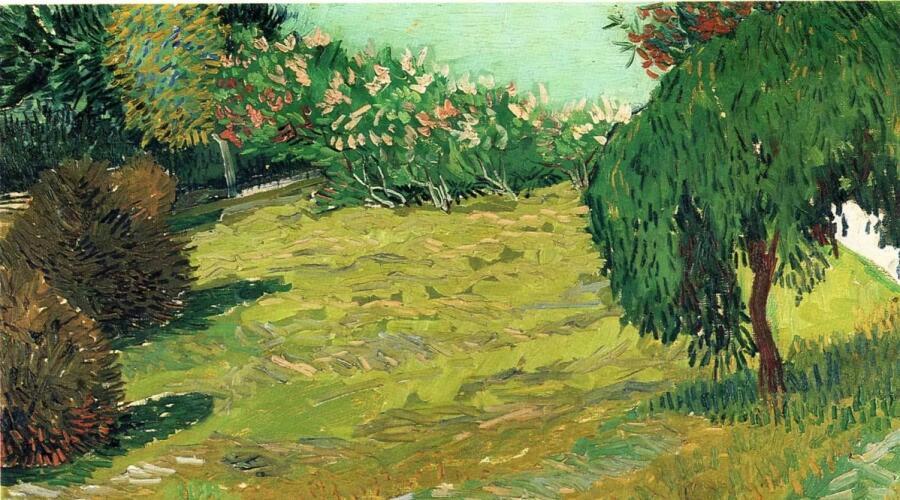 Винсент Ван Гог, «Сад с плакучей ивой», 1888 г.