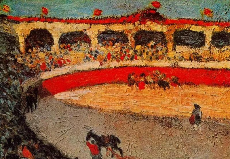 Пабло Пикассо, «Коррида» (фрагмент), 1901 г.