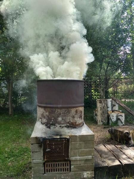 Печь сжигания мусора, больных растительных отходов