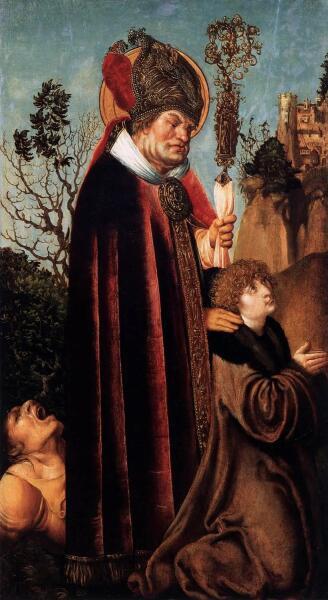 Лукас Кранах Старший, «Святой Валентин с жезлом», 1503 г.