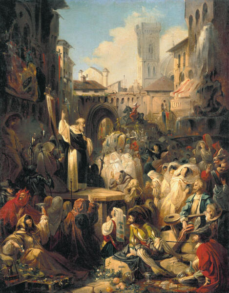 Н. П. Ломтев , «Проповедь Савонаролы во Флоренции», 1850-е гг.