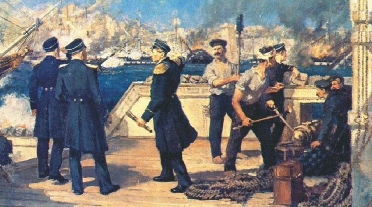 Н. П. Медовиков, «П. С. Нахимов во время Синопского сражения 18 ноября 1853 г.», 1952 г.