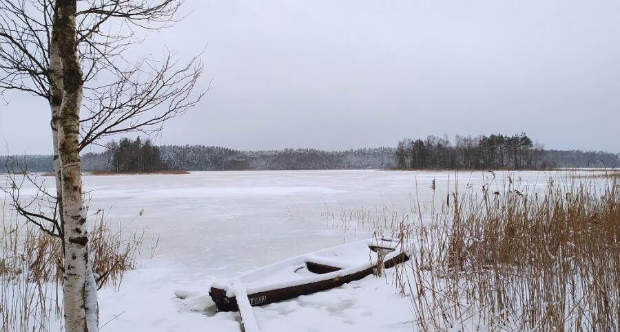 Январь. Беларусь. Озеро Плисса (бассейн реки Мнюта)