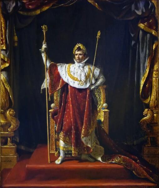 Жак-Луи Давид, «Портрет Наполеона в облачении императора», 1805 г.