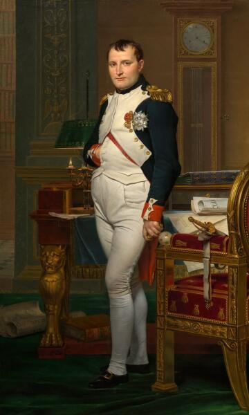 Жак-Луи Давид, «Наполеон Бонапарт в рабочем кабинете в Тюильри», 1812 г.