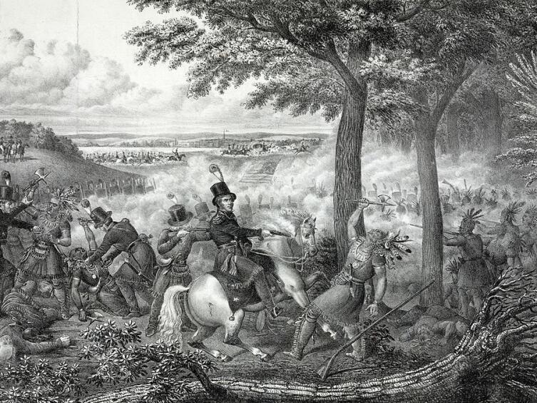 Сражение под Типпекану. Уильям Гаррисон возглавляет американские войска