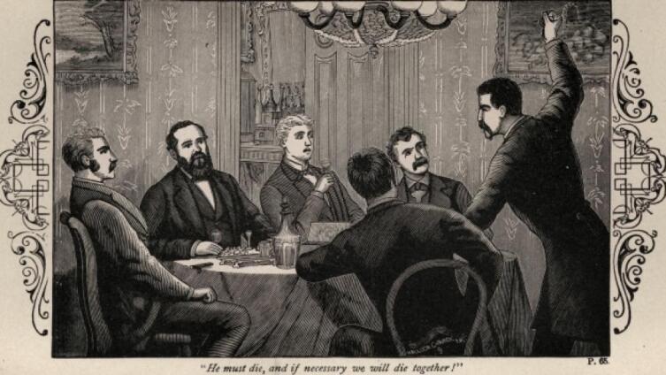 Заговорщики планируют убийство Авраама Линкольна
