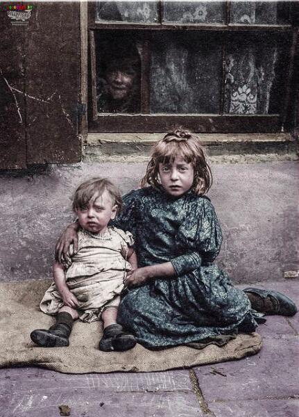 Один из портретов Горация Уорнера о самых бедных детях Лондона в начале 1900-х гг.