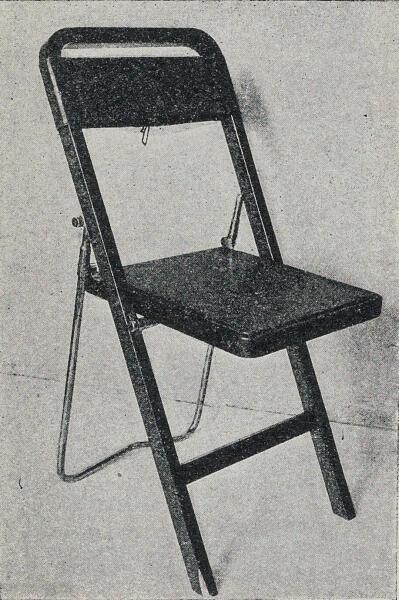 Борис Земляницын. Складной стул для каюты капитана рефрижераторного судна