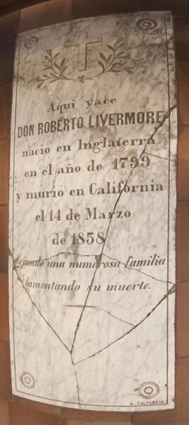 Могильный камень Ливермора