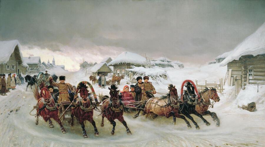 П. Н. Грузинский, «Масленица», 1889 г.<br />