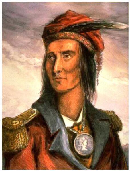 Лидер народа шауни и индейского племенного союза, известного как Конфедерация Текумсе