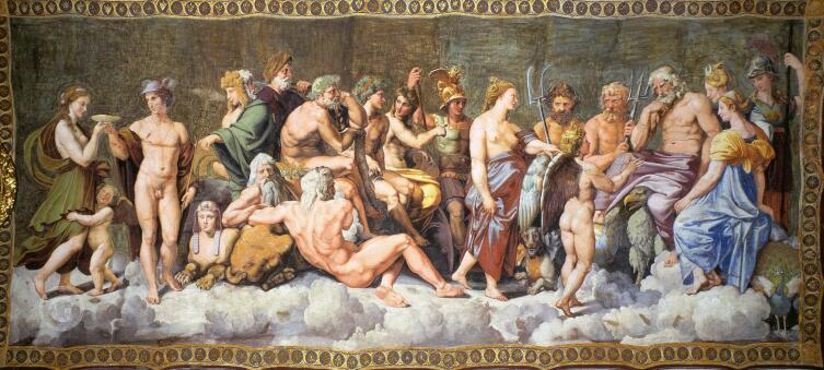 Рафаэль Санти, «Совет богов», 1518 г.