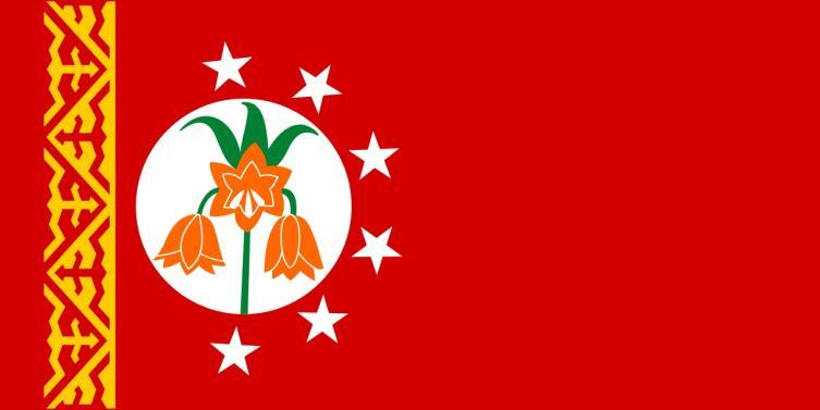 Рябчик Эдуарда на флаге Баткенской области Киргизии