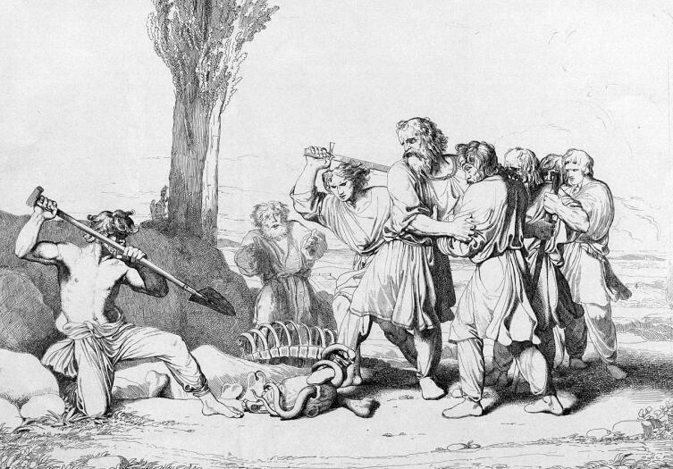 Ф. А. Бруни, «Кончина Олега», 1839 г.