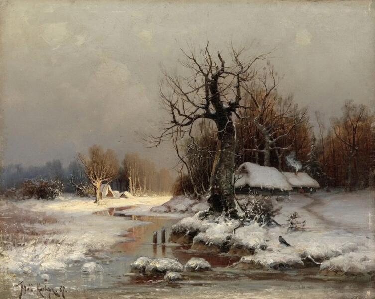 Ю. Ю. Клевер, «Оттепель (Март)», 1887 г.