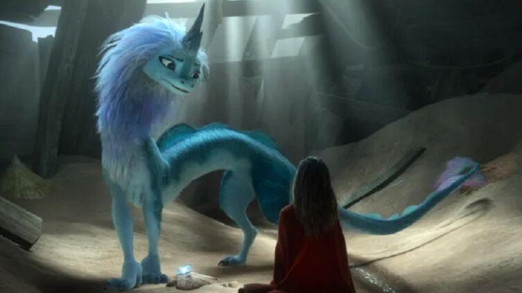 Кадр из м/ф «Райя и последний дракон», 2021 г.