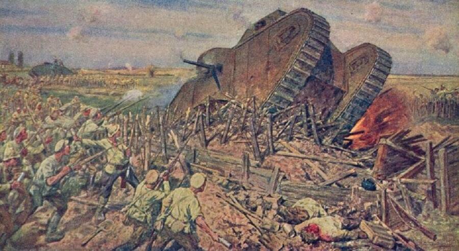 И. А. Владимиров, «Захват танков под Каховкой», 1927 г.