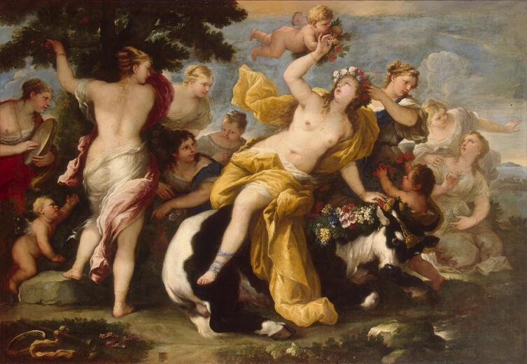 Лука Джордано, «Похищение Европы», 1677 г.