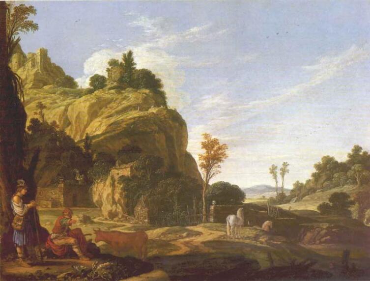 Якоб Симон Пинас, «Пейзаж с Меркурием и Баттом», 1618 г.