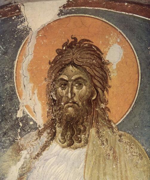 Иоанн Креститель, Православная фреска, монастырь Грачаница, неизвестный художник, XIV в.