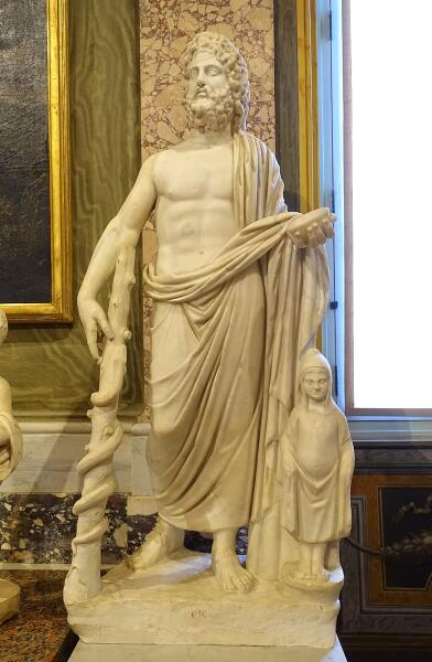 Римская статуя Асклепия и Телесфора. II век. Галерея Боргезе
