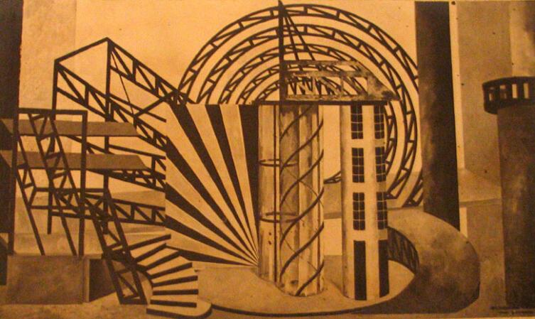 Игнатий Нивинский. Макет декораций к спектаклю по пьесе В. М. Киршона «Суд». 1930-е гг.