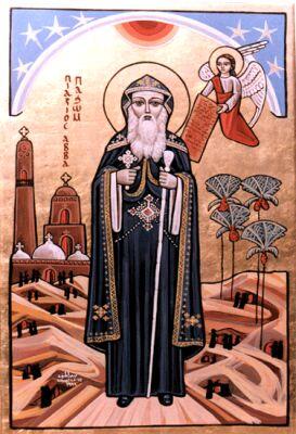 Пахомий великий, монах-отшельник, основавший первый монастырь не берегу Нила в Тавенисси