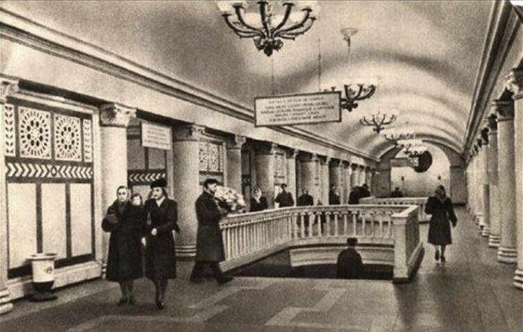 Станция метро «Павелецкая»-кольцевая 1950  –  1960 гг.,  Россия,  Москва,  ЦАО,  Замоскворечье