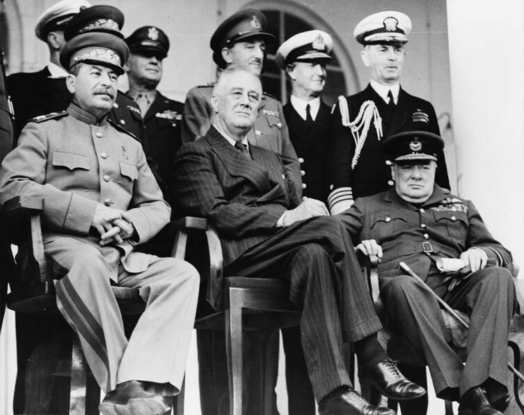 Конференция Большой тройки в Тегеране. 1943 год.