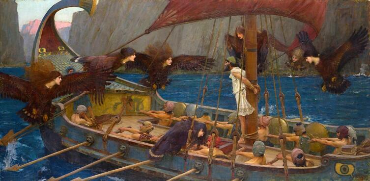 Джон Уильям Уотерхаус, «Одиссей и Сирены», 1891 г.